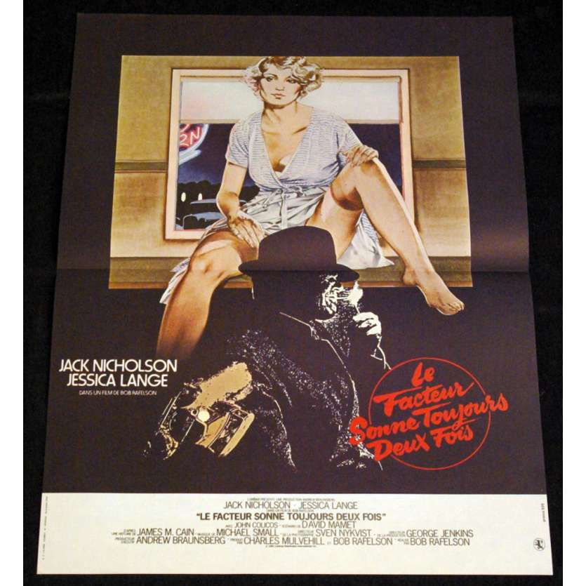 POSTMAN ALWAYS RING TWICE French Movie Poster 15x21 Jack Nickolson