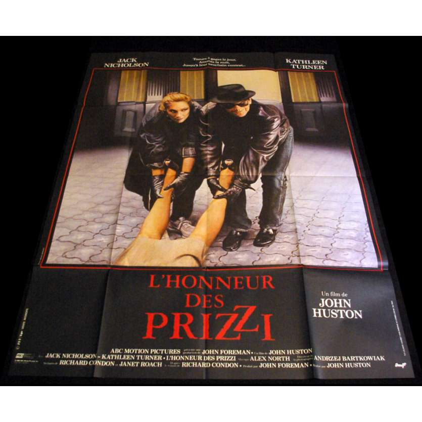 PRIZZIS HONNOR French Movie Poster 47x63 '84 John Huston, Jack Nickolson