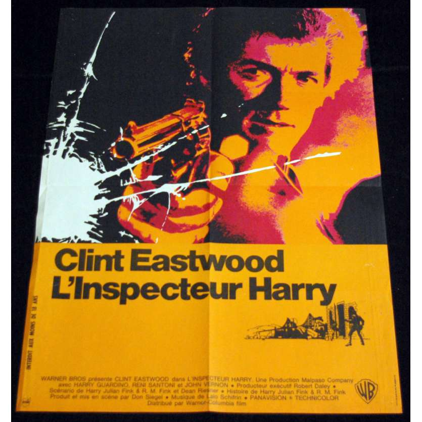 DIRTY HARRY French Movie Poster 23x31 '71 Clint Eastwood Dirty Harry