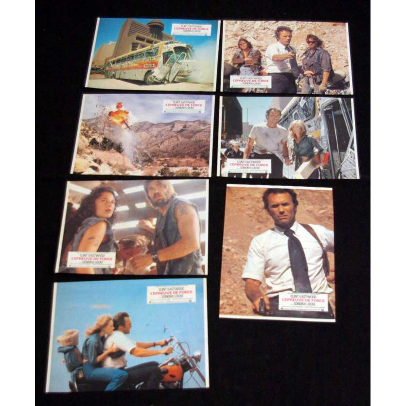 GAUNTLET Lobby cards x7 FR '77 Clint Eastwood