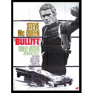 BULLITT Affiche 120x160 FR '68 Steve McQueen, Peter Yates Movie Poster