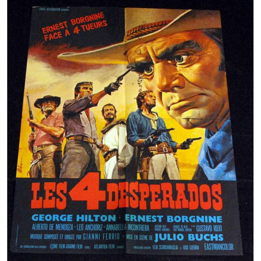4 DESPERADOS Affiche 60x80 '69 Lucio Fulci, Ernest Borgnine Movie Poster