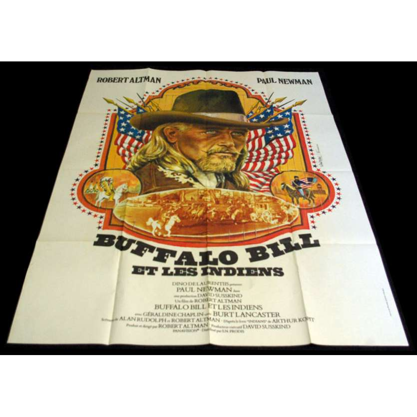 BUFFALO BILL AND THE INDIANS French Movie Poster 47x63 '76 Paul Newman, Robert Altman