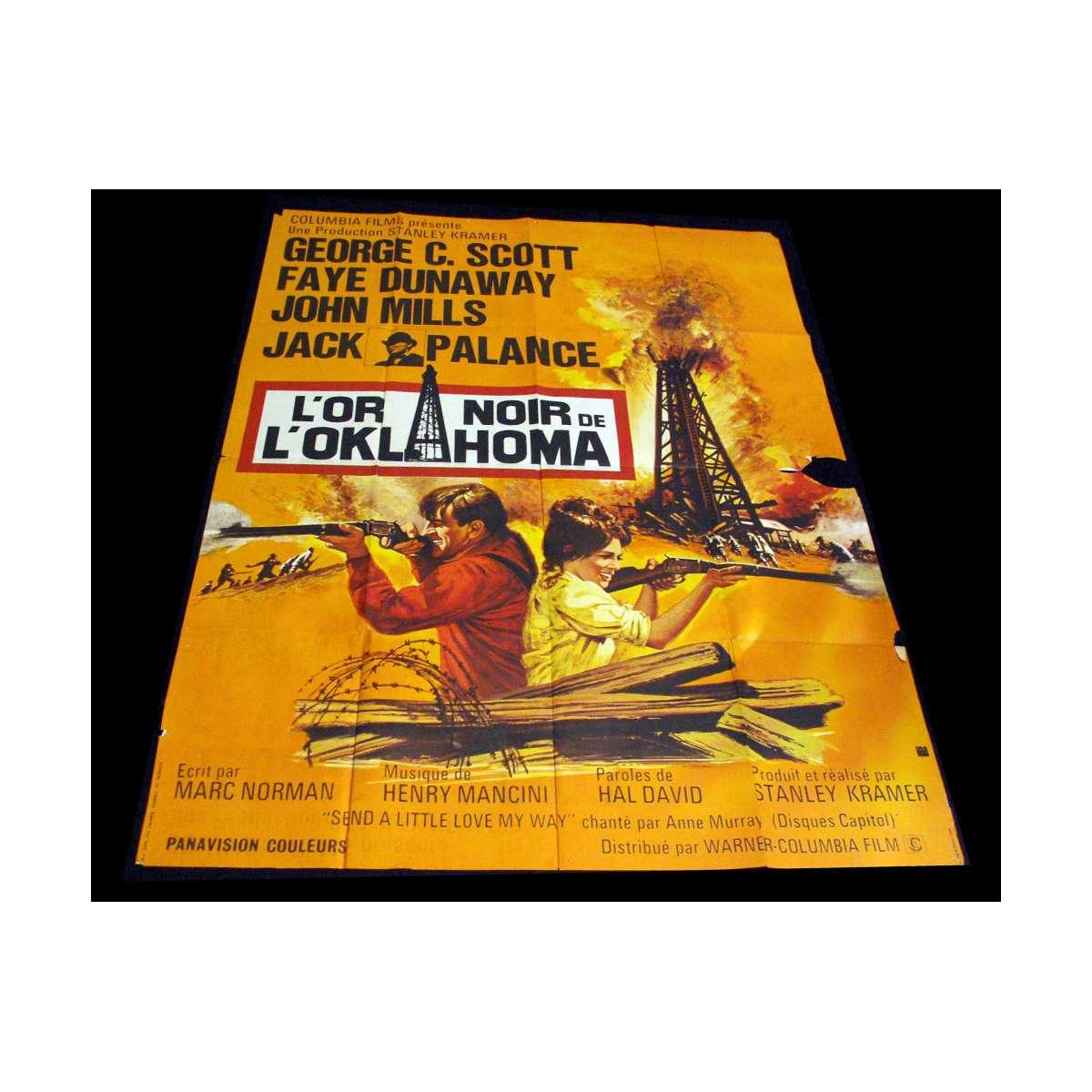 Jack Palance Filmes Top l'or noir de l'oklahoma affiche