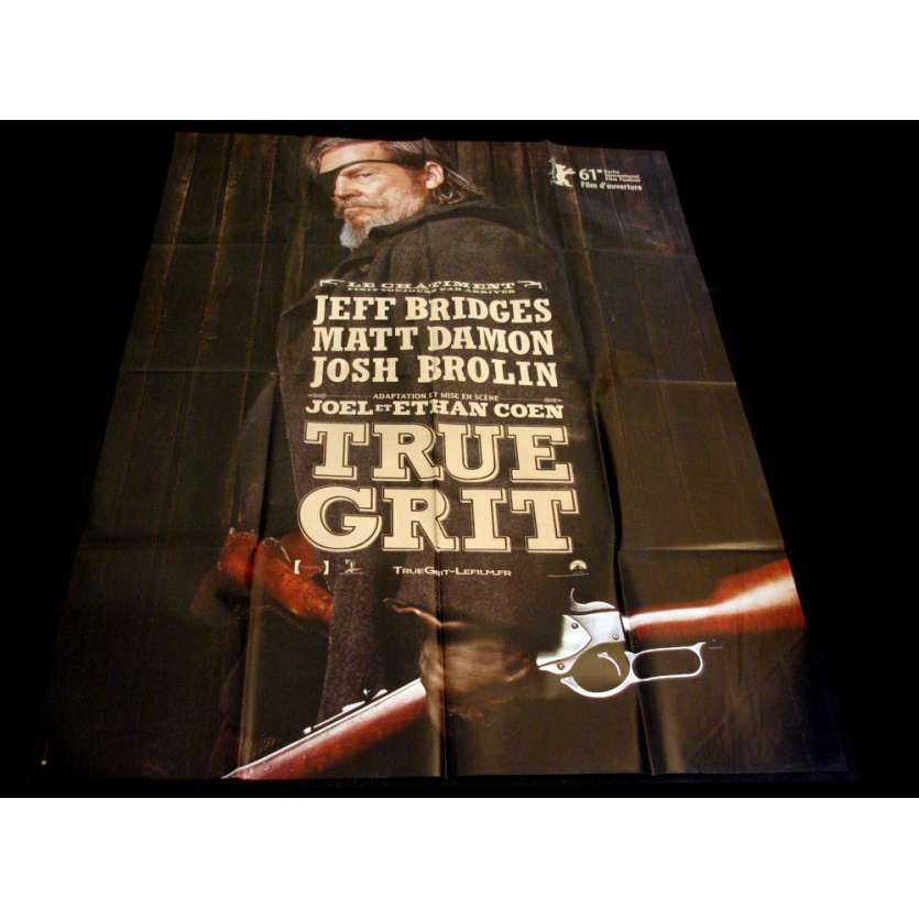 TRUE GRIT Affiche 120x160 FR Cohen, Jeff Bridges, Matt Damon Movie Poster