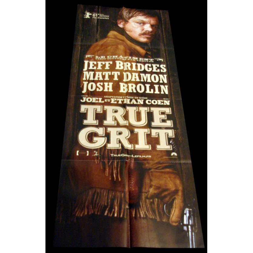 TRUE GRIT French Movie Poster 24x63 '10 Cohen, Jeff Bridges, Matt Damon