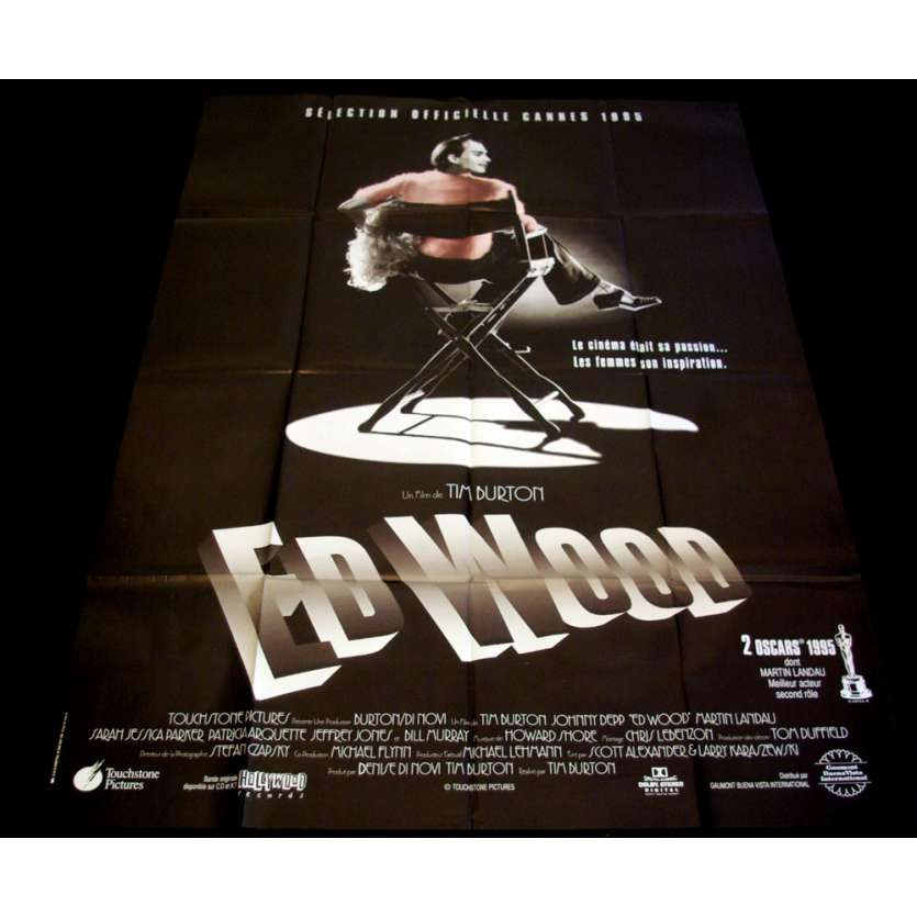 ED WOOD French Movie Poster 47x63 '94 Tim Burton, Johnny Deep