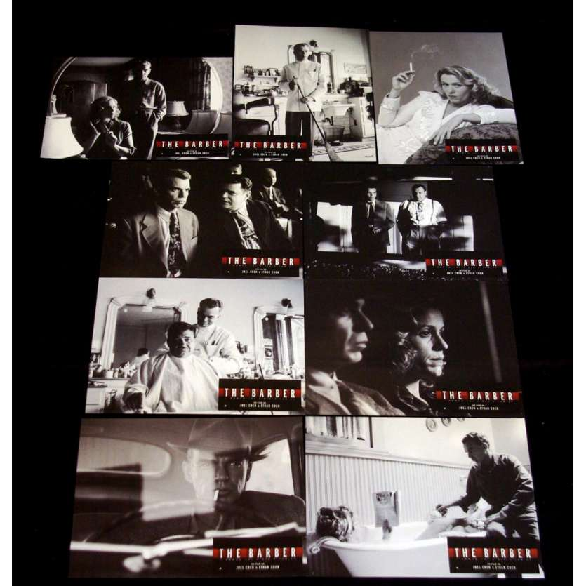 THE BARBER Photos exploitation x9 Coen Bros Lobby Cards