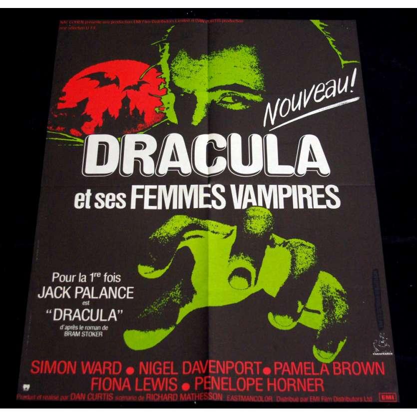 DRACULA ET LES FEMMES VAMPIRES Affiche 60x80 FR '73 Jack Palance Movie Poster