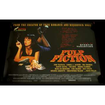 PULP FICTION Affiche UK 76x101 Quentin tarantino Original Quad Poster
