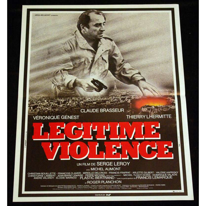 LEGITIME VIOLENCE French Movie Poster 15x21 '82 Brasseur, Lhermitte