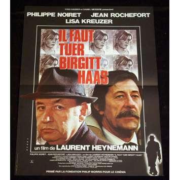 IL FAUT TUER BIRGITT HAAS Affiche 40x60 FR '81 Noiret, Rochefort