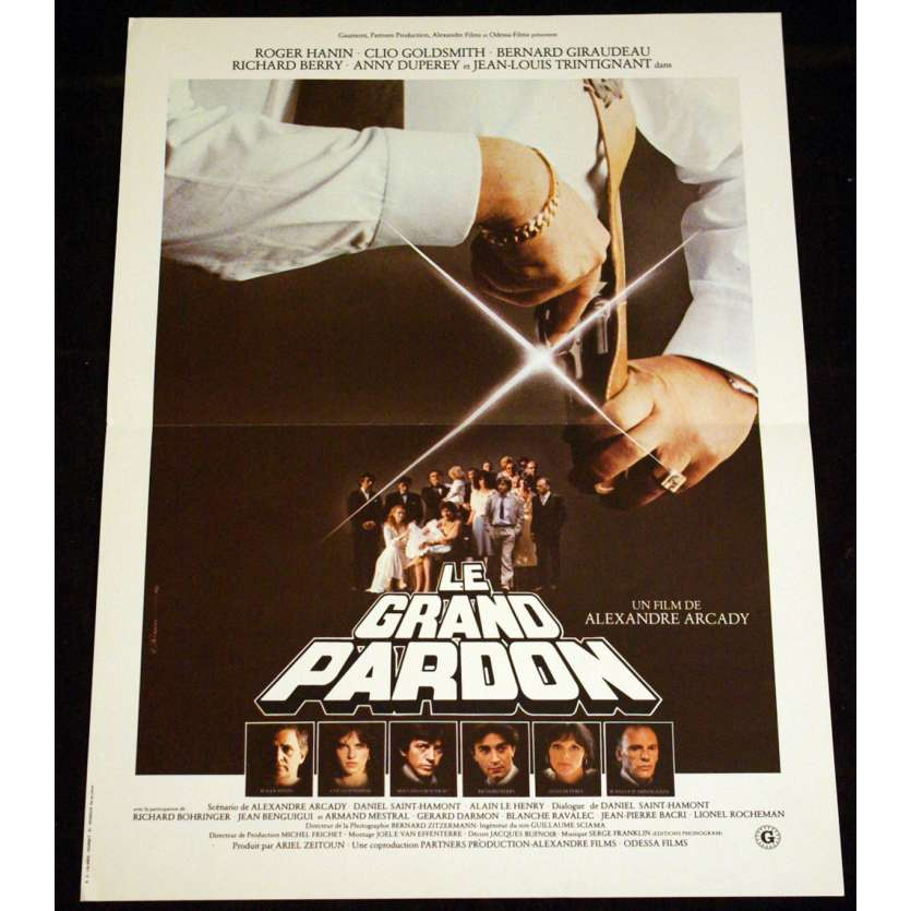 GRAND PARDON French Movie Poster 15x21 '81 Giraudeau, Berry, Trintignant
