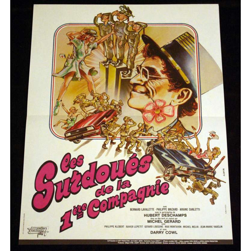 SURDOUES DE LA 1ERE COMPAGNIE French Movie Poster 15x21 '80 Darry Cowl
