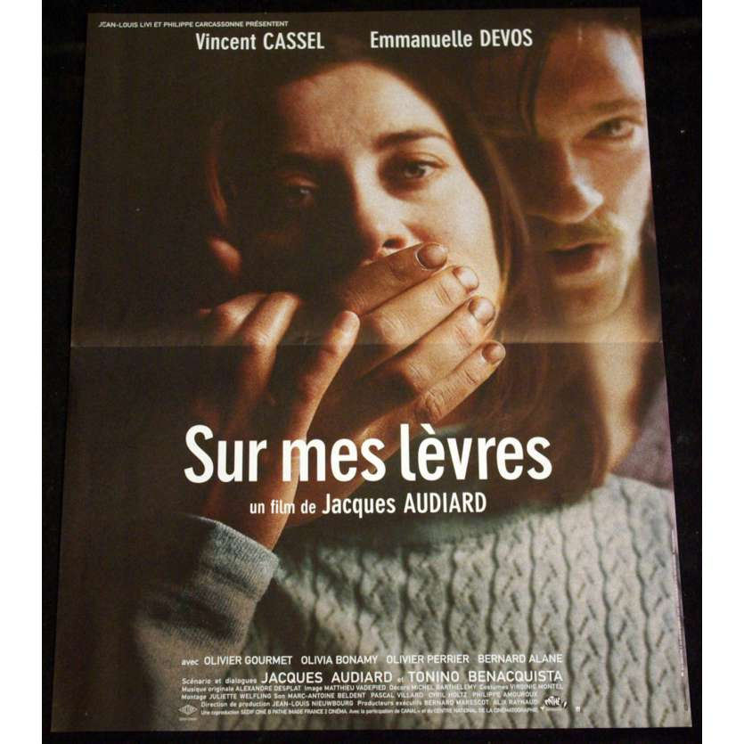 SUR MES LEVRES French Movie Poster 15x21 '01 Vincent Cassel, Jacques Audiard
