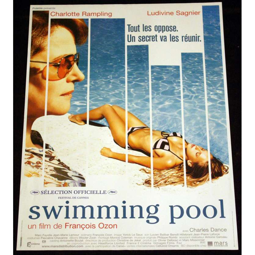 SWIMMING POOL French Movie Poster 15x21 '03 Ludivine Sagnier, Rampling