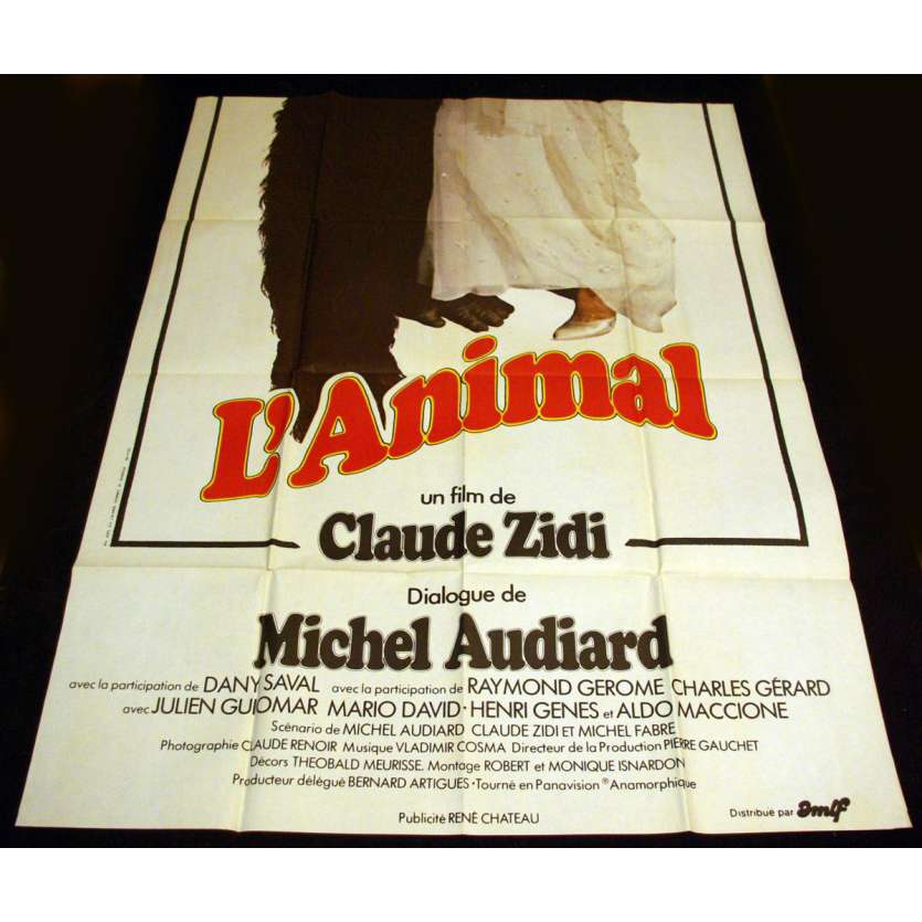 L'ANIMAL French Movie Poster 47x63 '77 Jean-Paul Belmondo, Rachel Welch