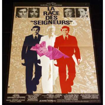 RACE DES SEIGNEURS French Movie Poster 23x31 '73 Alain Delon