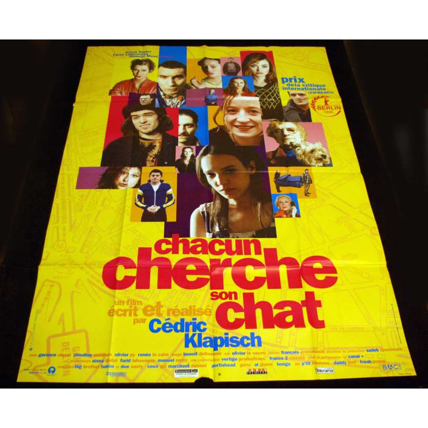 CHACUN CHERCHE SON CHAT French Movie Poster 47x63 '96 klapisch