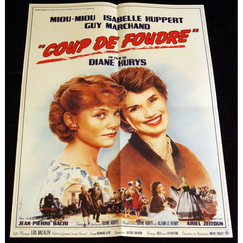 COUP DE FOUDRE French Movie Poster 15x21 '83 Huppert, Miou Miou