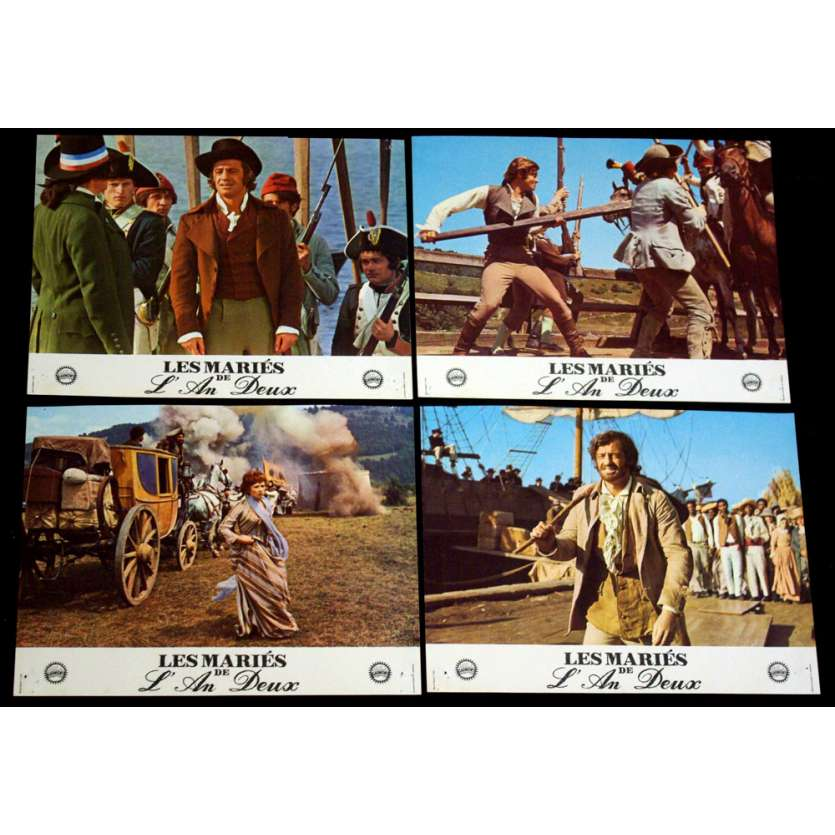 MARIES DE L'AN DEUX Photos exploitation x4 FR '71 Belmondo Lobby Cards