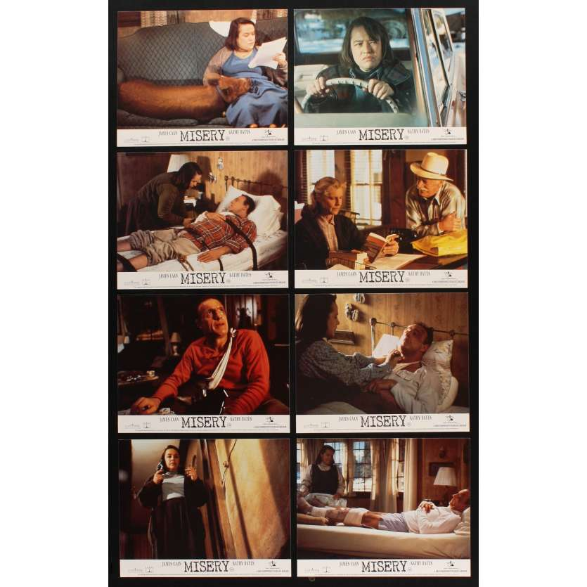 MISERY Photos exploitation x8 UK '90 Rob Reiner, Stephen King, James Caan, Kathy Bates`