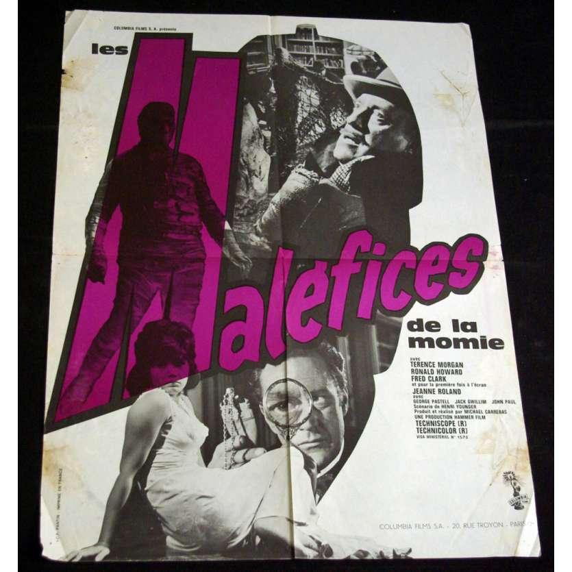 MALEFICES DE LA MOMIE Affiche 60x80 FR '64 Hammer Films