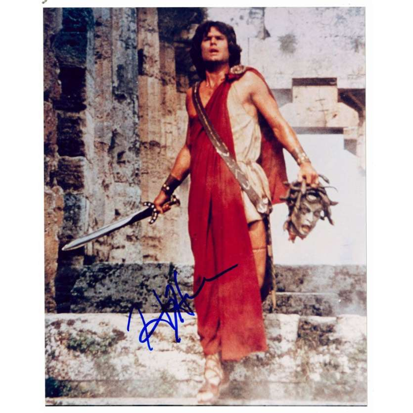 Mauvais-genres.com HARRY HAMLIN Photo signée USA 2000 le choc des titans Photos signées