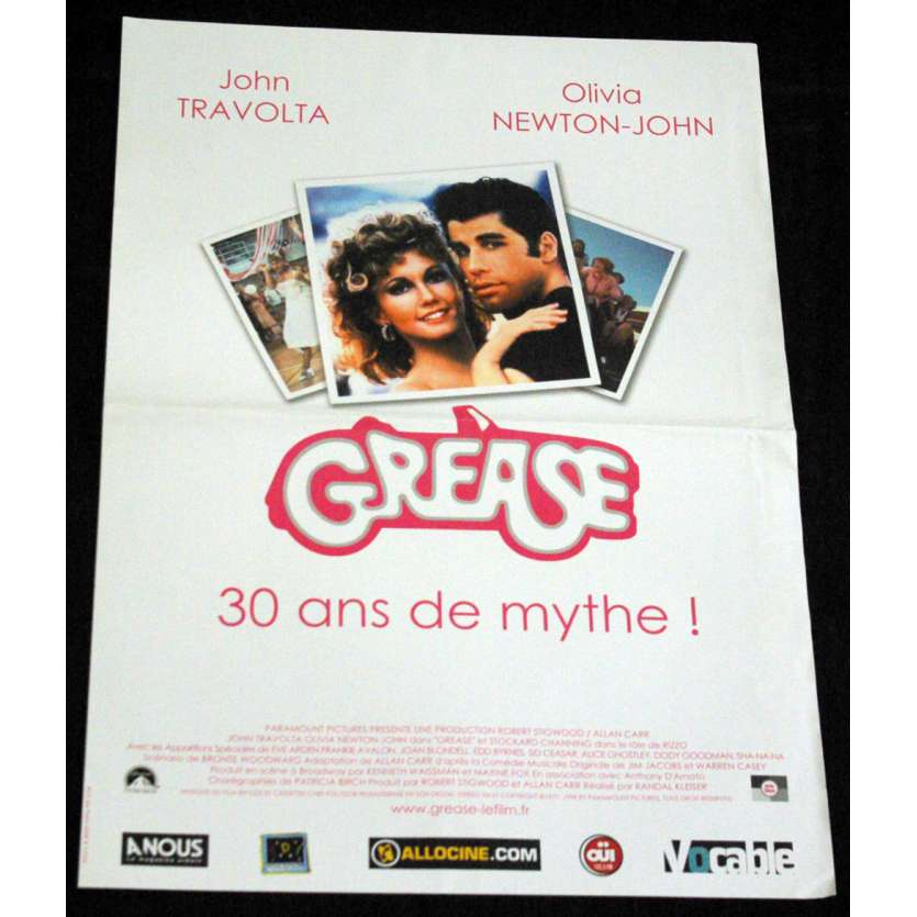 GREASE Affiche 40x60 FR 'R08 John Travolta Movie Poster