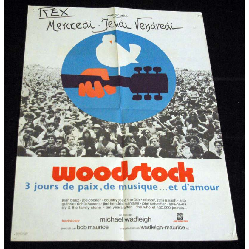WOODSTOCK Affiche 60x80 FR '68 Movie Poster
