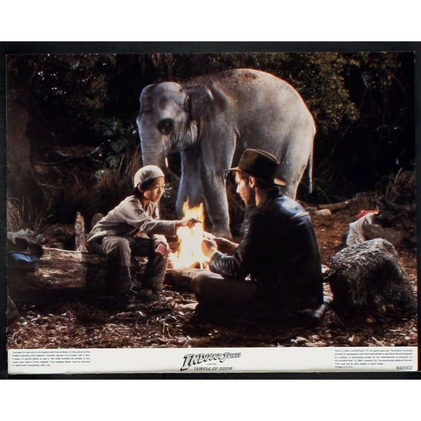 INDIANA JONES Photos exploitation N2 28x36 US '84 Spielberg, Ford Lobby Card