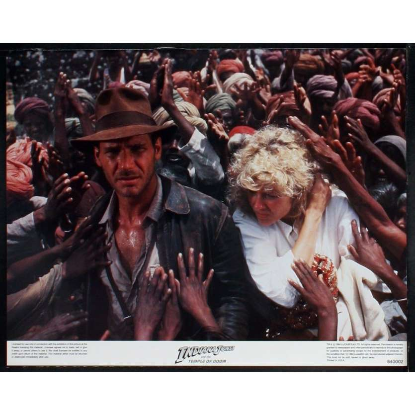 INDIANA JONES Photos exploitation N3 28x36 US '84 Spielberg, Ford Lobby Card