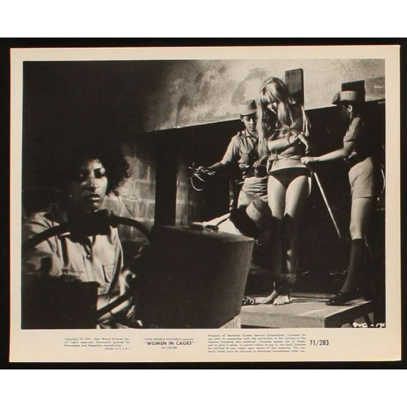 WOMEN IN CAGES Photo presse 20x25 US '71 Pam Grier blaxploitation