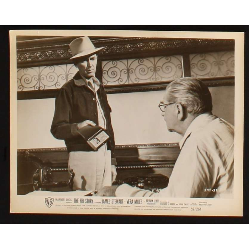 POLICE FEDERALE ENQUETE Photo presse 20x25 US '59 James Stewart