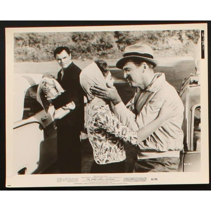 MR HOBBS PREND DES VACANCES Photo presse 20x25 US '62 James Stewart