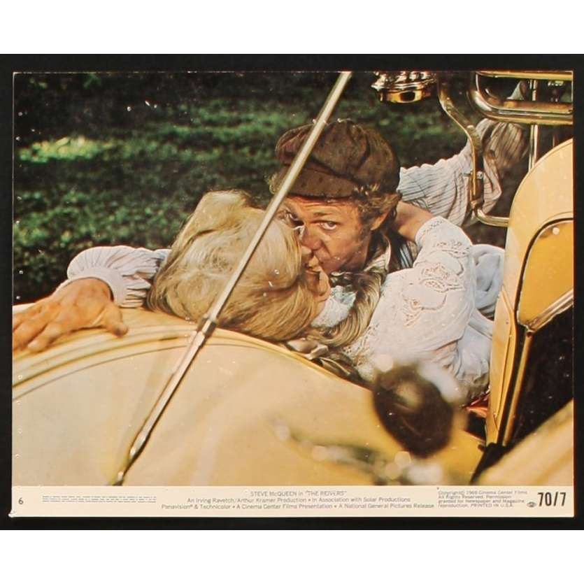 REIVERS Lobby Card 8X10 '70 Steve McQueen photo