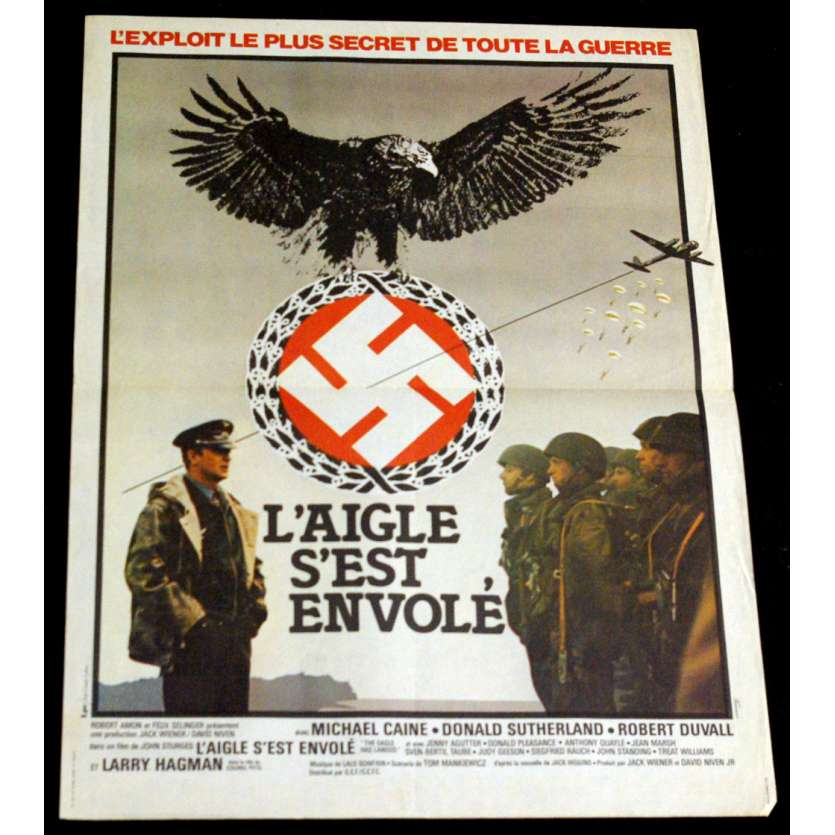 EAGLE HAS LANDED French Movie Poster 15x21 '78 Michael Caine, Donald Sutherland