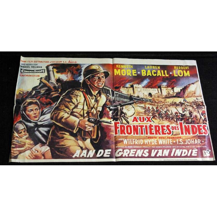 AUX FRONTIERES DES INDES Affiche 90x55 FR R70 Lauren Bacall Movie Poster