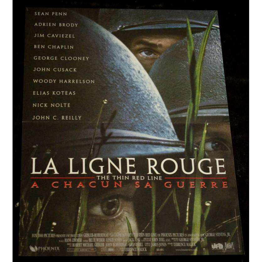 LIGNE ROUGE Affiche 40x60 FR '98 Terrence Malick, Sean Penn Movie Poster