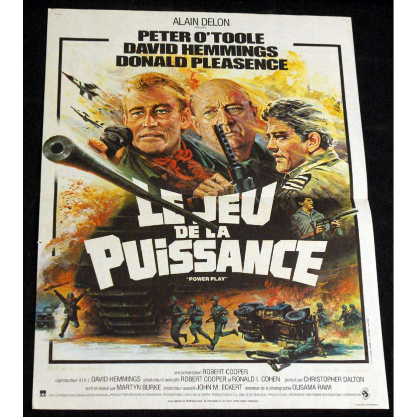POWER GAME French Movie Poster 15x21 '78 Peter O'Toole, David Hemmings