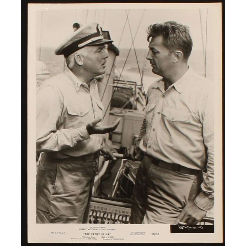 ENEMY BELOW Movie Still 8x10 '58 Robert Mitchum, Curd Jurgens