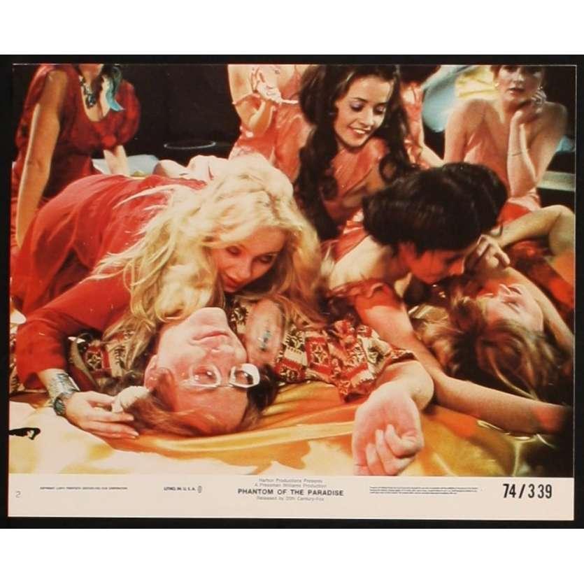 PHANTOM OF THE PARADISE photo de presse N3 '74 De Palma, Jessica Harper lobby card