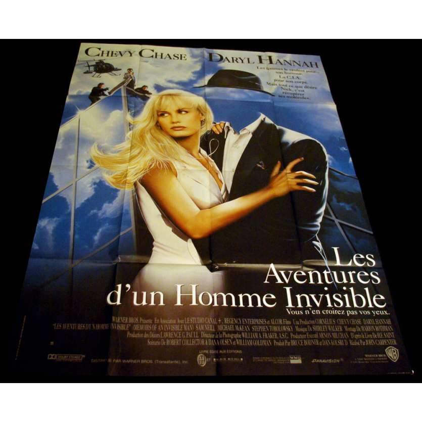 AVENTURES D'UN HOMME INVISIBLE Affiche 120x160 FR '92 John Carpenter