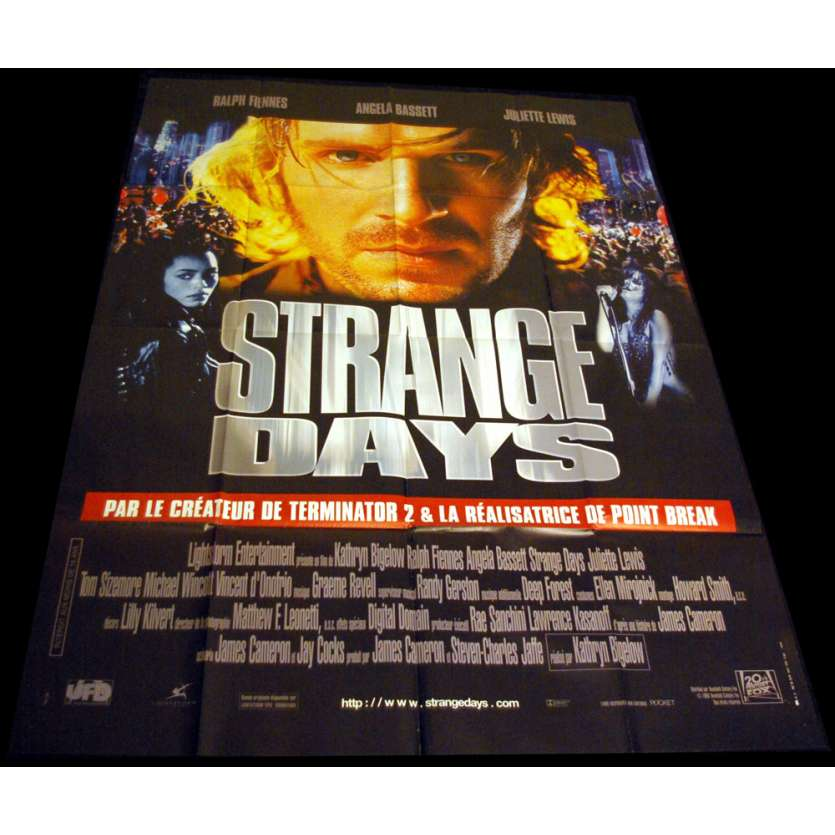 STRANGE DAYS French Movie Poster 47x63 '95 Ralph Fiennes, Juliette lewis