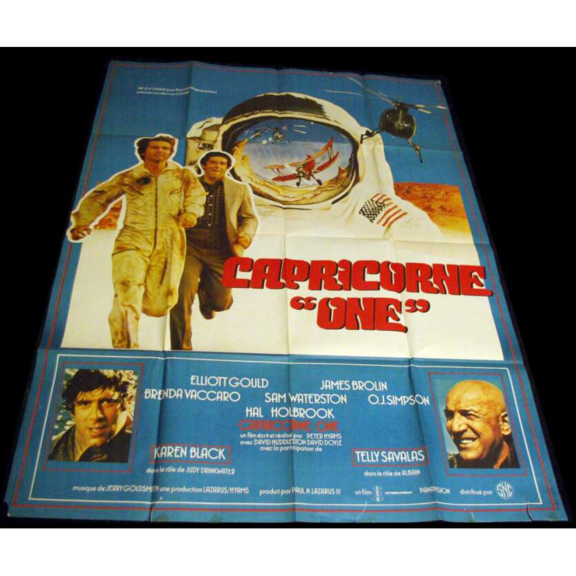 CAPRICORNE ONE French Movie Poster 47x63 '77 James Brolin, Peter Hyams