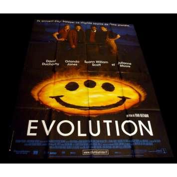 EVOLUTION Affiche 120x160 FR '01 David Duchovny, Julianne Moore