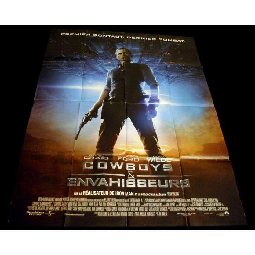 COWBOYS ET ENVAHISSEURS Affiche 120x160 FR '11 Daniel Craig, Harrison Ford