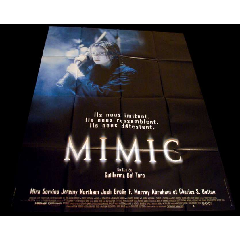 MIMIC French Movie Poster 47x63 '97 Guillermo del Toro, Mira Sorvino