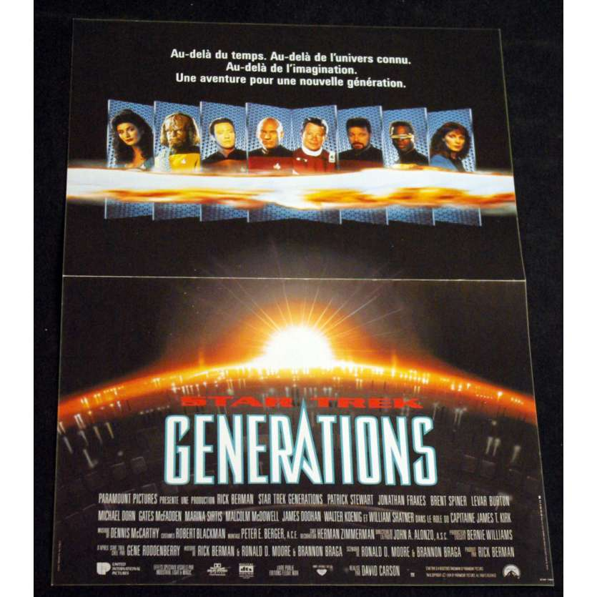 STAR TREK GENERATIONS French Movie Poster 15x21 '94 William Shatner