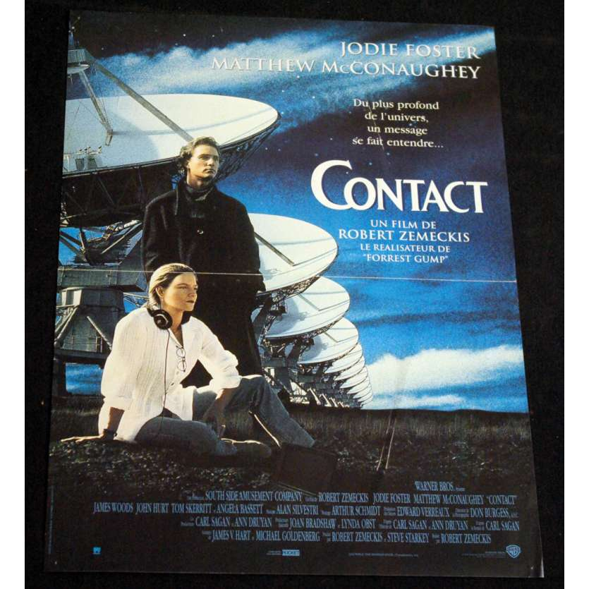 CONTACT French Movie Poster 15x21 '97 Jodie Foster, Robert Zemeckis